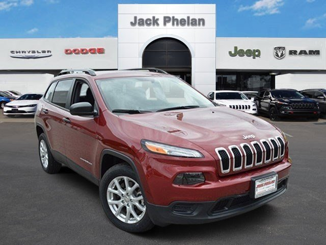 2016 Jeep Cherokee Deep Cherry Red Crystal Pearlcoat V4 24 L Automatic 0 miles  Front Wheel D