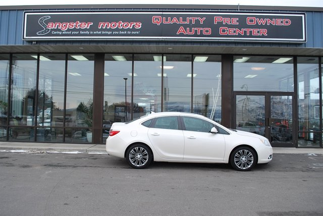 2014 Buick Verano Premium Group White Diamond T V4 20L  19688 miles  Turbocharged  Front Whe