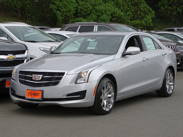 2017 Cadillac ATS Sedan Luxury AWD Radiant Silver MetallicJet Black with Jet Black Accents V4 2