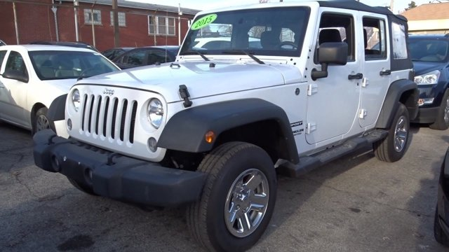 2015 Jeep Wrangler Unlimited Sport Bright White ClearcoatBlack V6 36 L Automatic 12618 miles