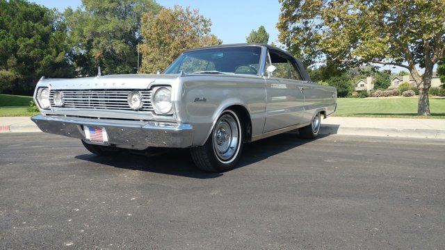1966 Plymouth Satellite Big Block 4 Speed Convertible SilverBlack V  Manual 43130 miles Gorgeo