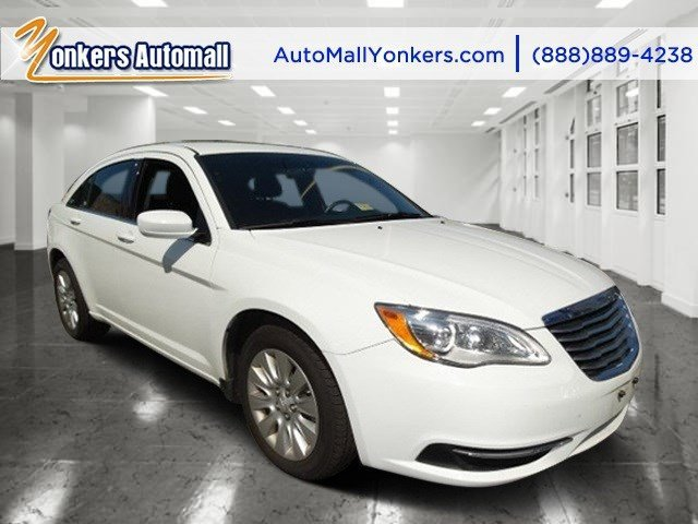 2014 Chrysler 200 LX Bright White ClearcoatBlack V4 24 L Automatic 42209 miles  BLACK PREMIUM