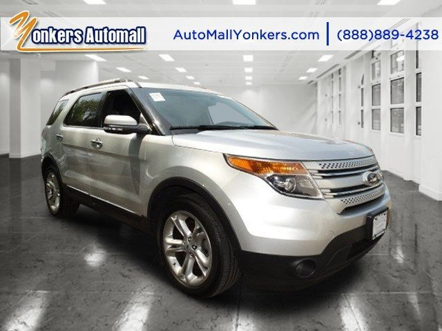 2014 Ford Explorer Limited White Platinum Metallic Tri-CoatCharcoal Black wPecan V6 35 L Autom