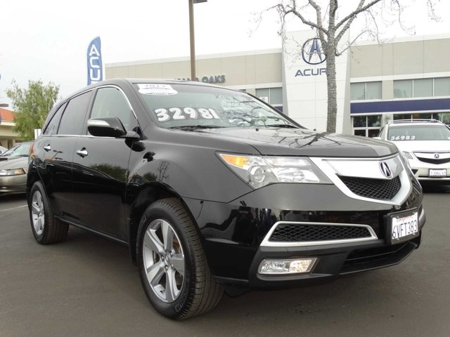 2012 Acura MDX Technology Package Crystal Black PearlEbony V6 37L Automatic 47849 miles NEW
