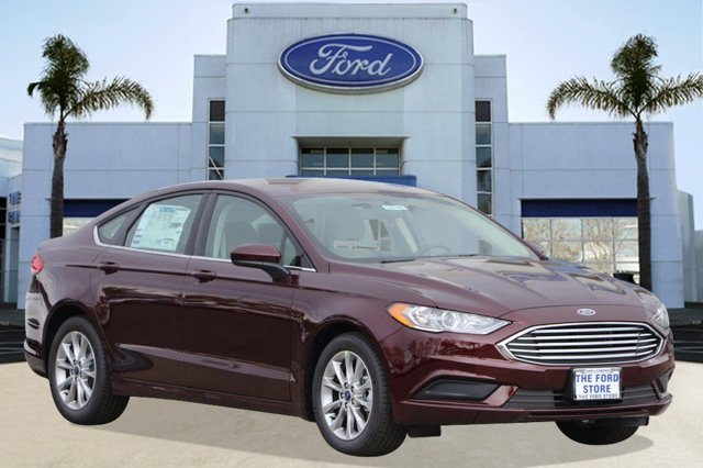 2017 Ford Fusion SE Burgundy Velvet Metallic Tinted ClearcoatMedium Light Stone V4 25 L Automat