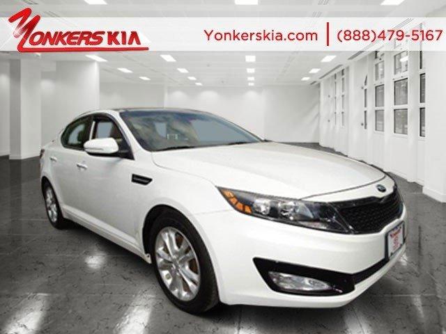 2013 Kia Optima EX Snow White PearlBeige V4 24L Automatic 14515 miles 1 owner clean carfax