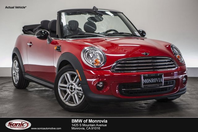 2015 MINI Cooper Convertible 2dr Chili RedCarbon Black V4 16 L Automatic 0 miles  Front Wheel