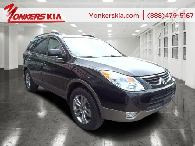2012 Hyundai Veracruz Limited Black Noir PearlBeige V6 38L Automatic 49403 miles  3rd Row Sea