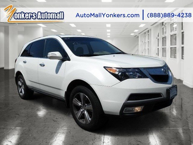 2012 Acura MDX Tech Pkg Aspen White Pearl IITaupe V6 37L Automatic 44558 miles Navigation Y