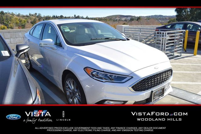 2017 Ford Fusion Titanium White Platinum Metallic Tri-CoatQC LEATHER PK HTDCOOLED SEATING COCOA