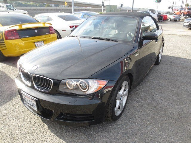 2009 BMW 1 Series 135i Convertible Jet BlackGray V6 30L Automatic 59139 miles CERTIFIED PRE-OW