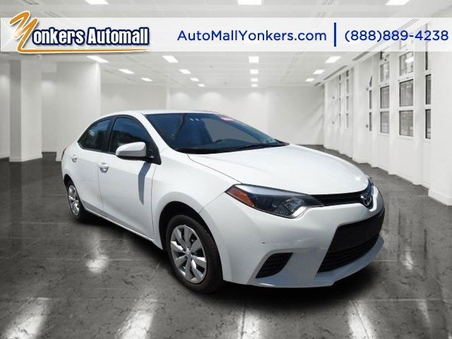 2014 Toyota Corolla LE Super WhiteAsh V4 18 L Automatic 34341 miles Yonkers Auto Mall is the