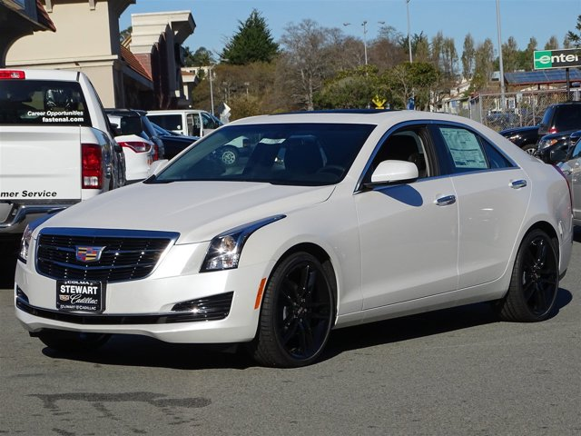 2017 Cadillac ATS Sedan RWD Crystal White TricoatJet Black with Jet Black Accents V4 20L Automa