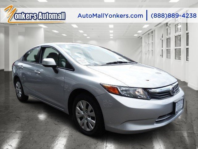 2012 Honda Civic Sdn LX Alabaster Silver MetallicBeige V4 18L Automatic 28551 miles Yonkers A
