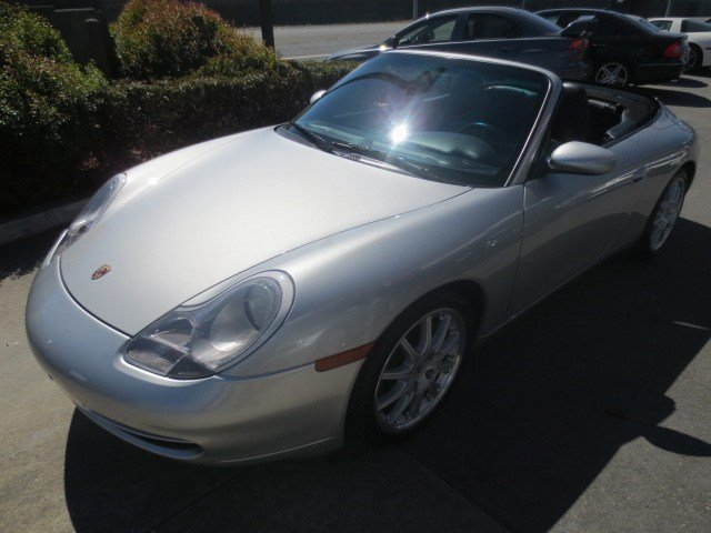 2000 Porsche 911 Carrera Cabriolet Polar Silver MetallicBlack V6 34L Manual 97732 miles Low Mi