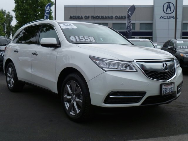2014 Acura MDX AdvanceEntertainment Pkg White Diamond PearlTan V6 35 L Automatic 45153 miles