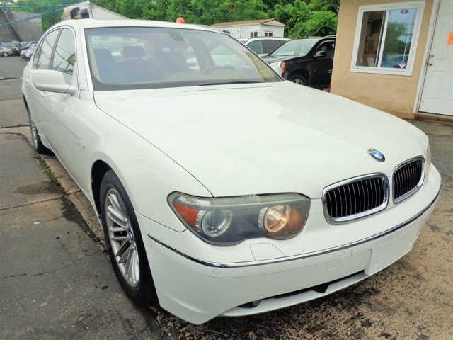 2004 BMW 7 Series 745Li Alpine WhiteDark BeigeBeige V8 44L Automatic 111793 miles  Traction