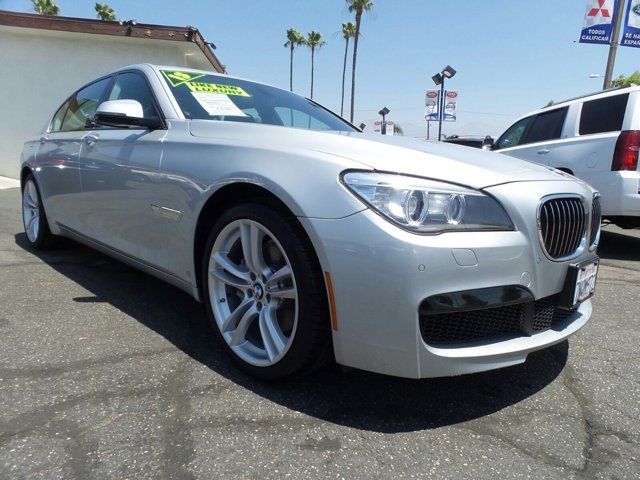 2013 BMW 7 Series 740Li 4D Sedan V6 Turbocharged 3 Glacier Silver MetallicSaddleBlack V6 30L A