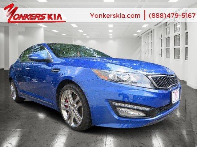 2013 Kia Optima SXL wNavigation Corsa Blue Pearl MetallicWhite V4 20L Automatic 28742 miles 2