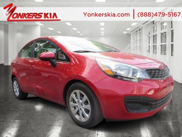 2013 Kia Rio LX Signal RedBeige V4 16L Automatic 42195 miles 1 Owner clean carfax Satellite
