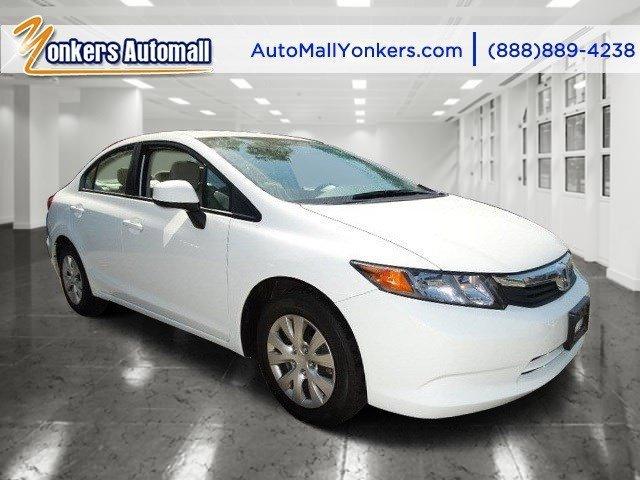 2012 Honda Civic Sdn LX Taffeta WhiteBeige V4 18L Automatic 37882 miles Yonkers Auto Mall is