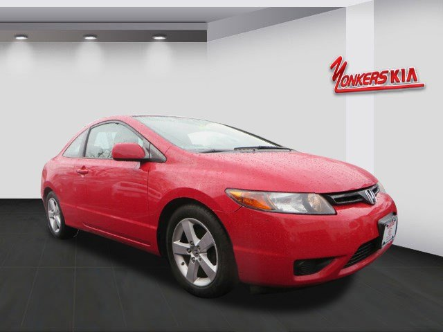 2008 Honda Civic Cpe EX Rallye RedBlack V4 18L Automatic 63870 miles Youll be completely happ