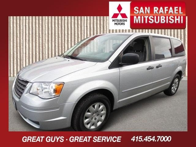 2008 Chrysler Town  Country LX Mini-Van Bright Silver MetallicMedium Slate Gray V6 33L Automati