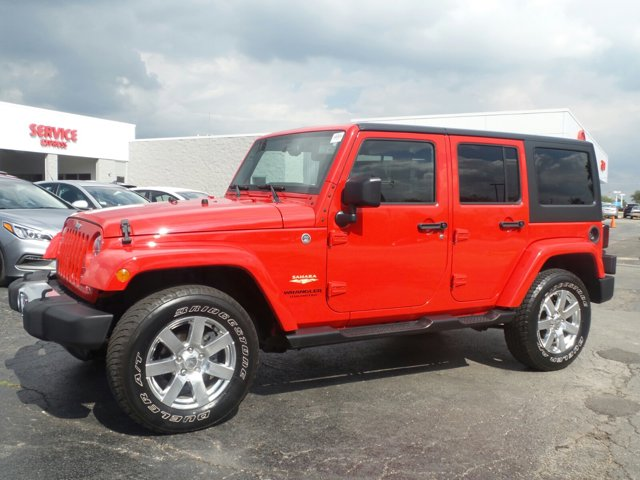 2015 Jeep Wrangler Unlimited Sahara RedBlack V6 36 L Automatic 45874 miles  Four Wheel Drive