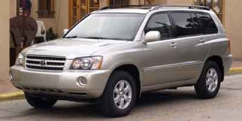 2002 Toyota Highlander  V6 30L Automatic 111034 miles  Four Wheel Drive  Tires - Front All-S