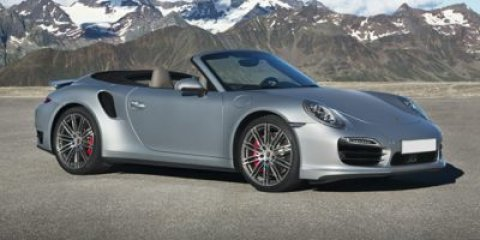 2014 Porsche 911 Turbo Cabriolet GT SLVR MTLCBLBLACK LEATHER V6 38 L Automatic 8 miles  Turbo
