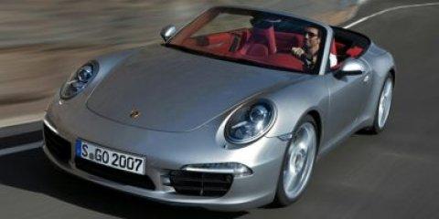 2014 Porsche 911 Cabriolet Carrera RHODIUM SILVERBLUEBLUE V6 34 L Automatic 6063 miles Thi