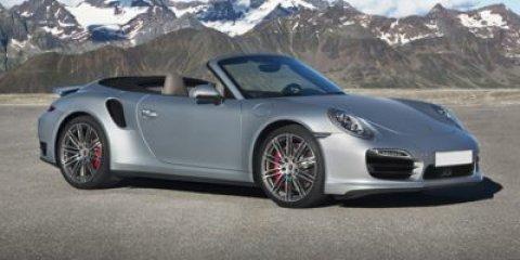 2016 Porsche 911 Turbo S Cabriolet Carrara WhtBlkBlack Leather V6 38 L Automatic 8 miles Si