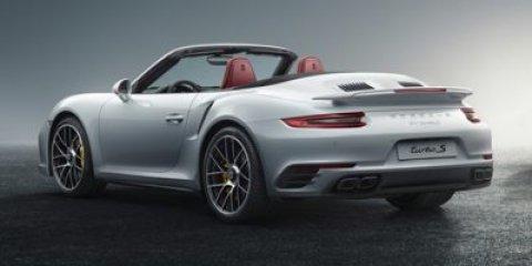 2017 Porsche 911 Turbo S Cabriolet WhiteLTHR IN BLKBOR V6 38 L Automatic 9 miles Price plu