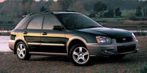 2004 Subaru Impreza Wagon Outback Sport Woodland Green PrlGray MetGray V4 25L Automatic 95159