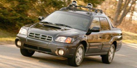 2005 Subaru Baja Brilliant SilverGray V4 25L Automatic 169637 miles  Pwr tiltsliding moonroo