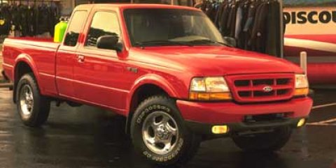 1999 Ford Ranger XLT Red V6 40L 5-Speed 164594 miles 4WD Red Hot Extended Cab Internet Spec