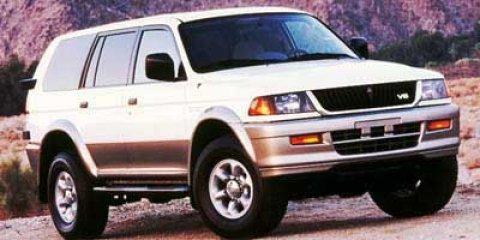 1999 Mitsubishi Montero Sport LTD Solano Black V6 35L Automatic 0 miles 35L V6 MPI SOHC 24V G