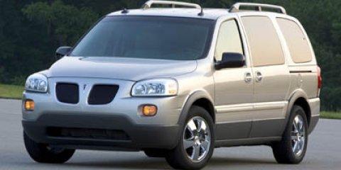 2006 Pontiac Montana SV6 Dark Blue Metallic V6 35L Automatic 85255 miles  All Wheel Drive  A