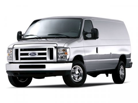 2008 Ford Econoline Cargo Van Commercial Oxford White V8 46L Automatic 210299 miles  Rear Whee