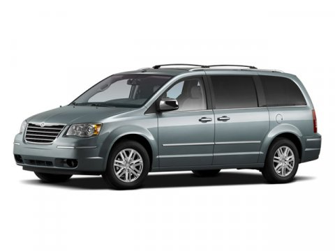 2009 Chrysler Town  Country Touring Brilliant Black Pearl V6 38L Automatic 97932 miles  Front