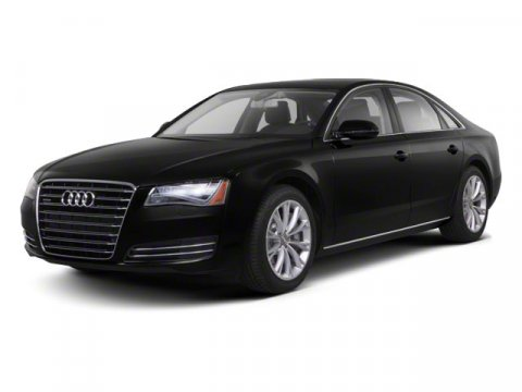 2011 Audi A8 Black V8 42L Automatic 52844 miles  Traction Control  Brake Actuated Limited Sl