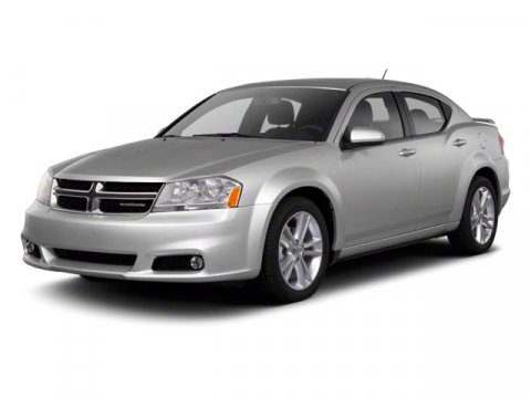 2011 Dodge Avenger Heat Brilliant Black Crystal PearlBlack Interior V6 36L