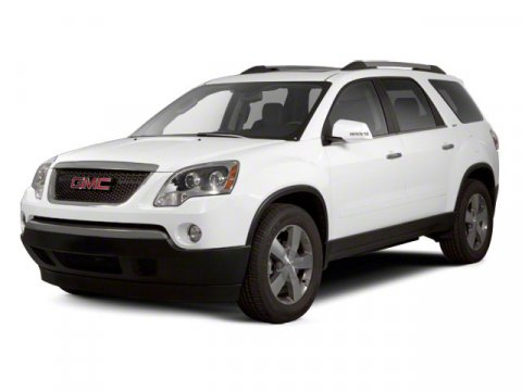 2011 GMC Acadia SLT1 White V6 36L Automatic 90446 miles  Steering Wheel Audio Controls  Leat