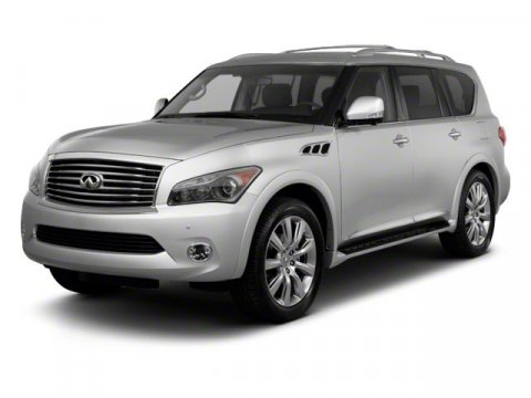 2011 Infiniti QX56 8-passenger Moonlight White V8 56L Automatic 66233 miles  Rear Wheel Drive