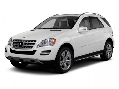 2011 Mercedes M-Class ML350 Diamond White MetallicCHARCOAL LEATHE V6 35L Automatic 34520 miles
