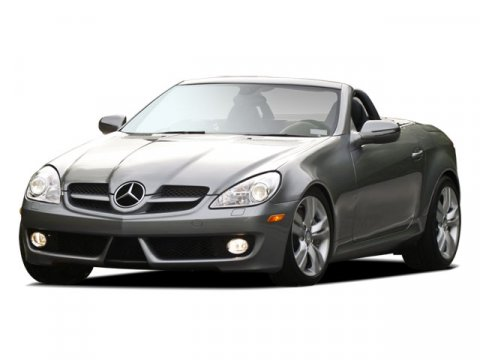 2011 Mercedes SLK-Class SLK350 Palladium Silver Metallic V6 35L Automatic 6167 miles  Rear Wh
