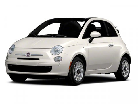 2012 FIAT 500 Lounge WhiteRED V4 14L Manual 99869 miles  Chrome pwr heated mirrors -inc exte
