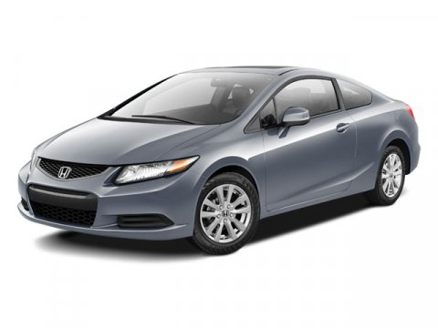 2012 Honda Civic EX-L Coupe FWD Polished Metal MetallicGray V4 18L Automatic 40183 miles One