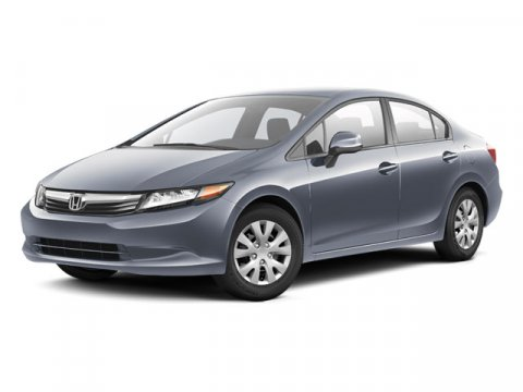 2012 Honda Civic LX FWD Alabaster Silver MetallicGray V4 18L Automatic 45124 miles One Owner