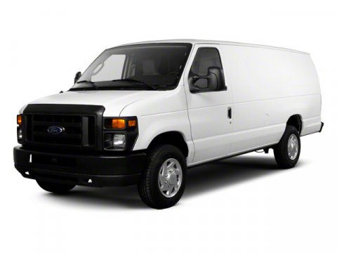 2013 Ford Econoline Cargo Van Commercial Oxford WhiteAE STD VINYL BUCKET SEATS MEDIUM FLINT V8 4